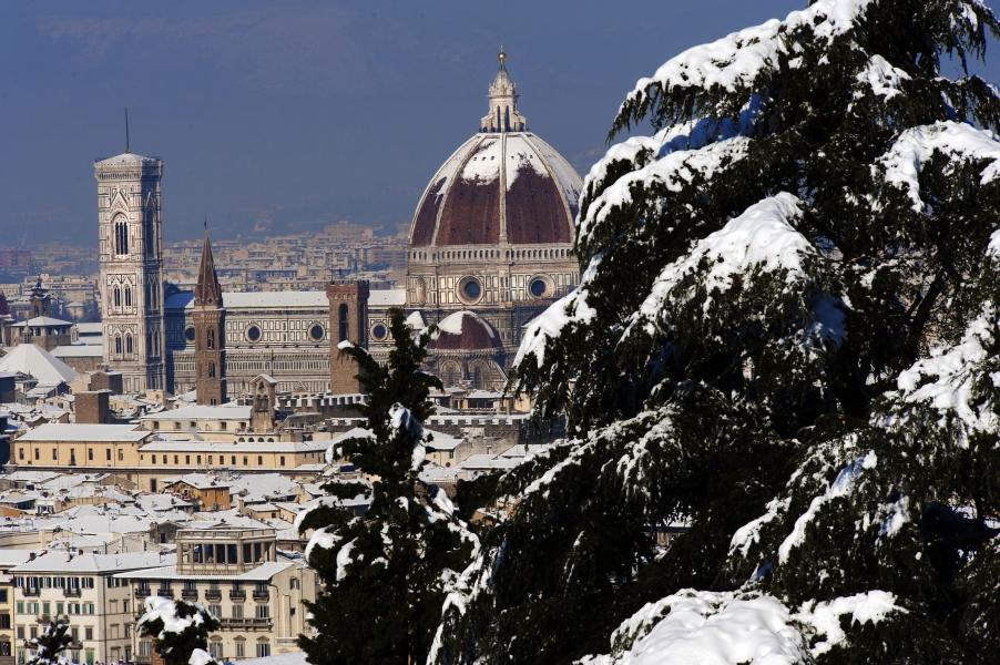 Nieve en Florencia