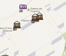 Situación del Palacio Pitti