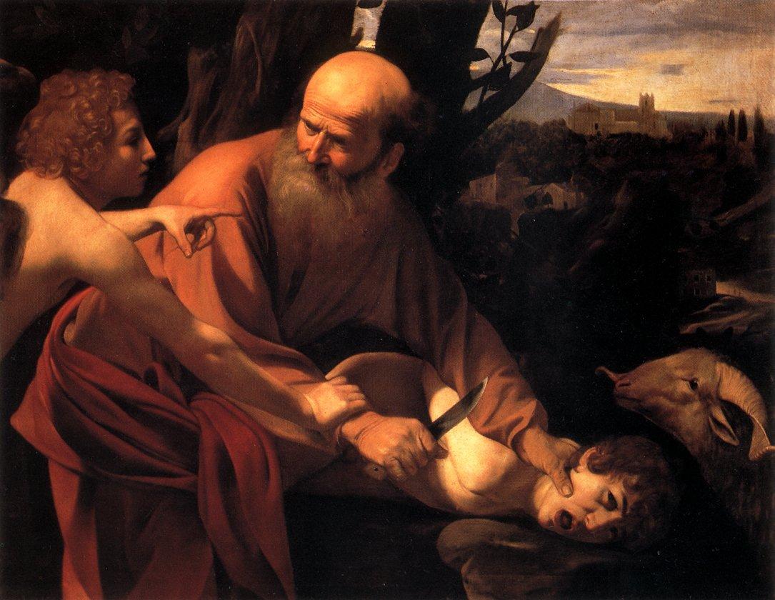 Sacrificio de Isaac de Caravaggio
