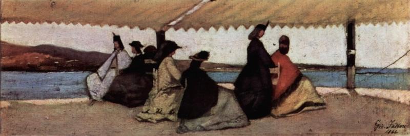 La Rotonda dei Palmieri de Giovanni Fattori