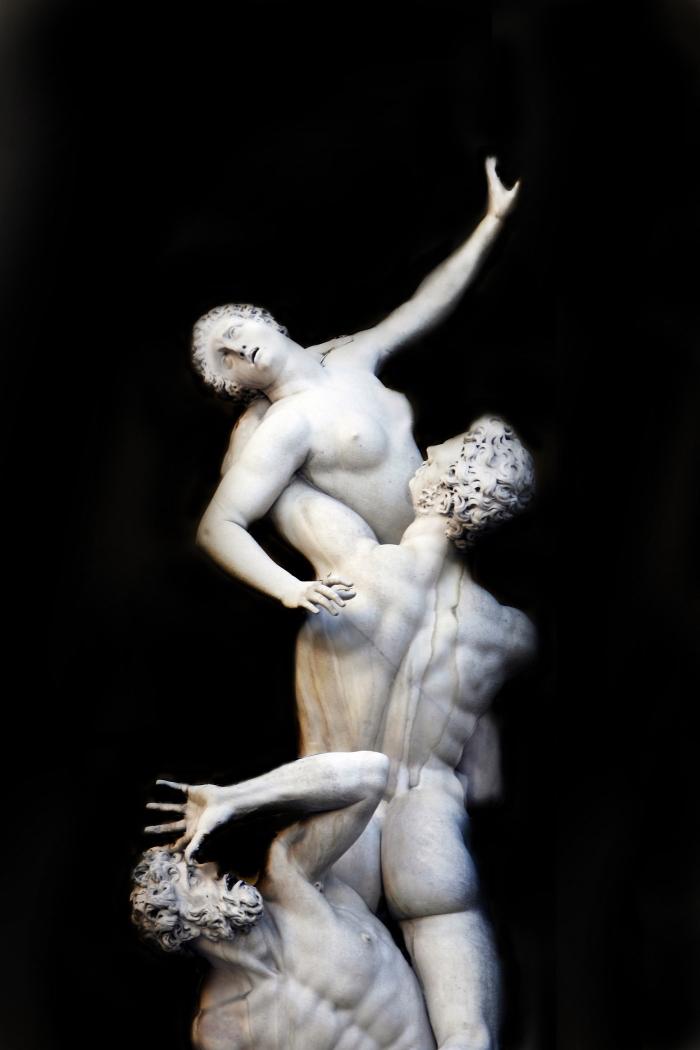 El Rapto de las Sabinas de Giambologna
