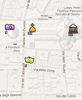 Situación de la Catedral de Florencia