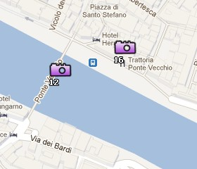 Situación del Ponte Vecchio